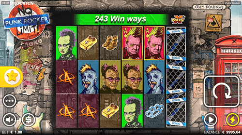"""Punk Rocker"" is a Nolimit City slot with up to 46,656 win ways"