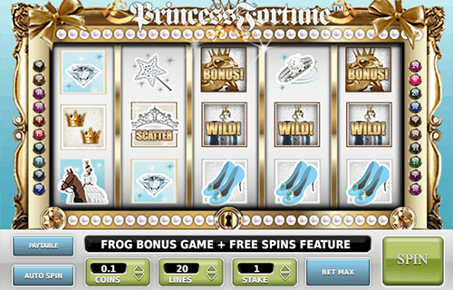 """Princess Fortune"" is a slot by Omi Gaming with 3x5 reel layout and 20 pay lines"