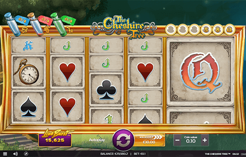 "The Omi Gaming's slot ""The Cheshire Tree"" offers up to 12 rows"