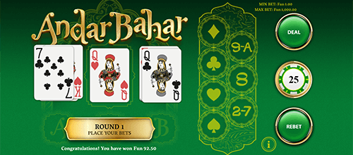 """Andar Bahar"" is a card game by OneTouch and it's one of the most popular ones in India"