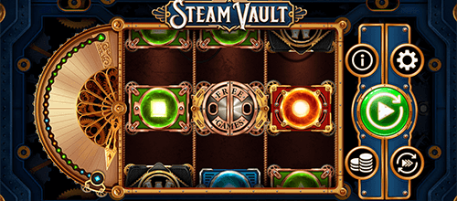 "The ""Steam Vault"" slot by OneTouch has 27 fixed pay lines"