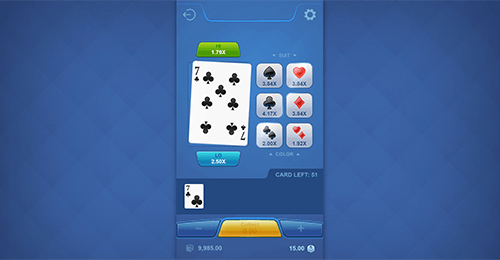 """Cards Hi Lo"" is a game by PG Soft which has an RTP of 98%"