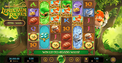 "The ""Leprechaun Riches"" slot by PG Soft has a special 6x6 pattern"