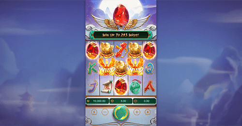 """Phoenix Rises"" is a PG Soft 3D video slot with a 5x3 reel layout"