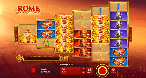 "The Playson slot ""Rome Caesar's Glory"" offers players 64 ways to win"