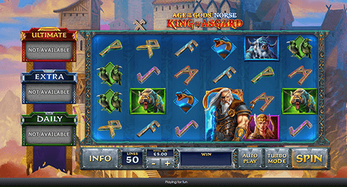 "The ""Age of the Gods: King of Asgard"" slot by Playtech has 50 pay lines"