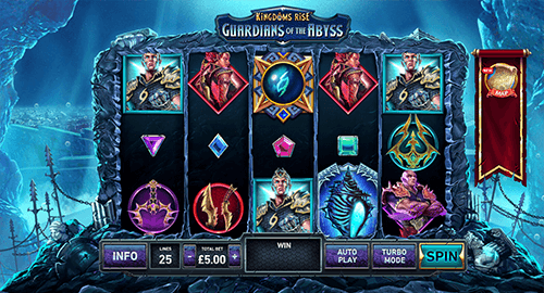 "The ""Kingdoms Rise: Guardians of the Abyss"" slot by Playtech"