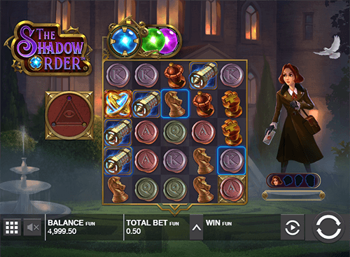 """The Shadow Order"" is a slot from Push Gaming with a 5x5 layout"