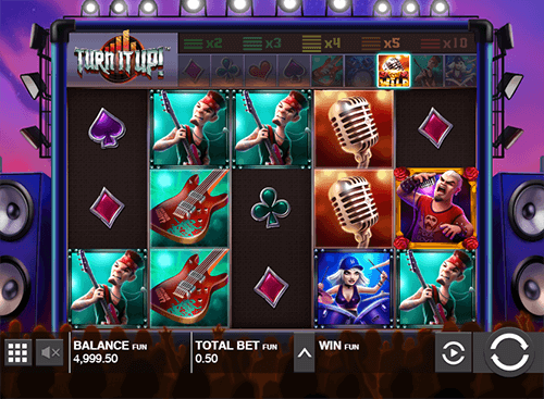 "The Push Gaming slot ""Turn it Up!"" has an increasing multiplier - up to x5"