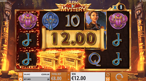 """Ark of Mystery"" is a Quickspin slot with 20 bet lines and a multiplier symbol"