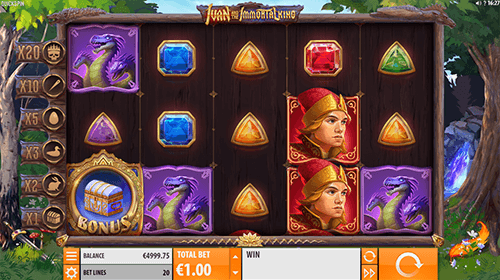 "The ""Ivan and the Immortal King"" Quickspin slot has a regular and progressive free spins"