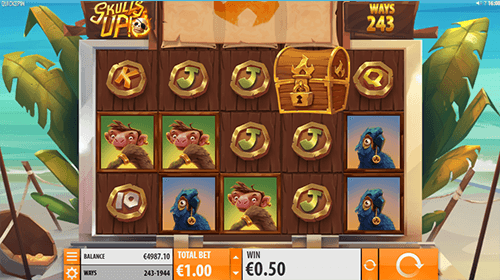 """Skulls UP!"" is a pirate-themed Quickspin slot with up to 1,944 win ways"