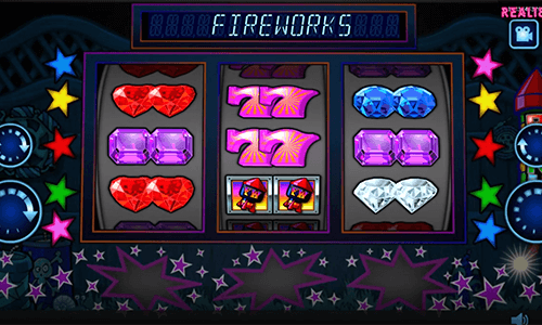 """Fun Size Fireworks"" is a Realistic Games 3x3 slot with 5 win lines"