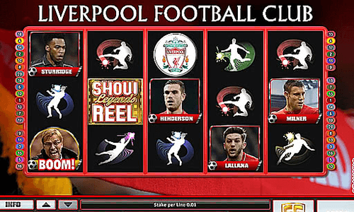 Liverpool Football Club is a 3x5 reel layout slot by Realistic Games
