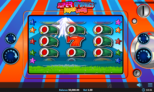 """Super Graphics Super Lucky"" slot by Realistic Games has a 3x3 layout"