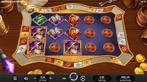 """Heroes Gathering"" is a Relax Gaming slot game with 20 paylines"