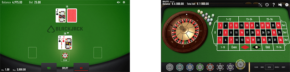There are 2 table games by Relax Gaming - Relax Blackjack and Relax Roulette