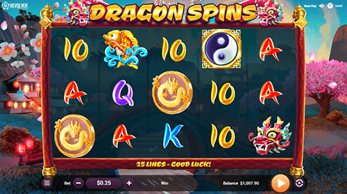 "The ""Dragon Spins"" slot by Revolver Gaming has an RTP rate of 96.01%"