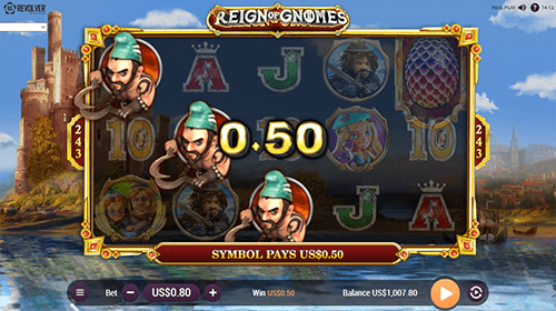 """Reign of Gnomes"" is a slot by Revolver Gaming which offers 243 ways to win"