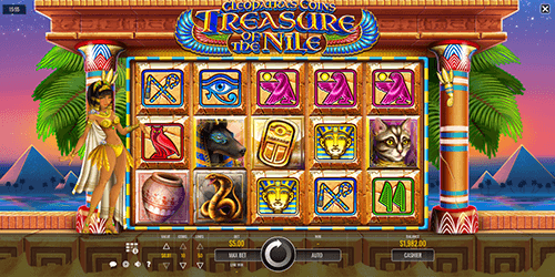 "Rival's slot game ""Cleopatra's Coins"" features a 5x3 reel layout and 50 pay lines"