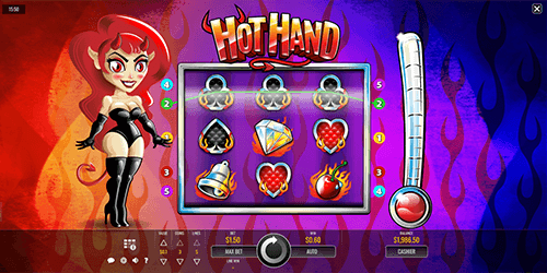 "The ""Hot Hand"" slot by Rival has 3x3 reel layout"