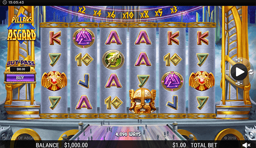 "The SG Digital slot ""Pillars of Asgard"" has up to 1,000,000 ways to win"