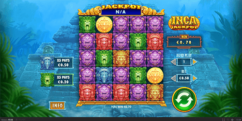 "Skywind's slot ""Inca Jackpot"" has a 5x5 reel layout and numerous bonus features"