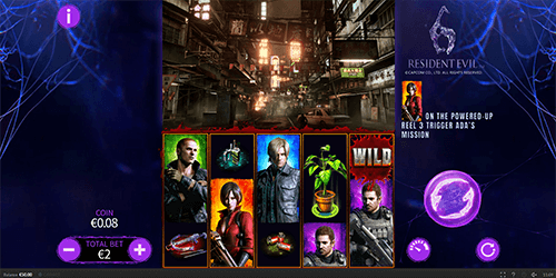 """Resident Evil 6"" is a slot game by Skywind with a 5x3 layout and 25 winning ways"
