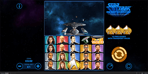 """Star Trek: The Next Generation"" is a 5x4 space slot by Skywind with 50 paylines"