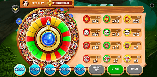 """Forest Party"" is a ""fortune wheel"" type of game by Slot Factory"