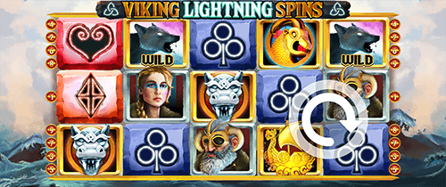 """Viking Lightning Spins"" is a slot by Slot Factory with a 5x3 reel layout"