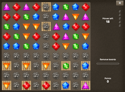 "The ""Diamonds"" game from Spigo is a symbol-matching game"