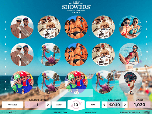 "The ""Showers"" slot from Spigo has a 3x5 reel layout and 20 paylines"