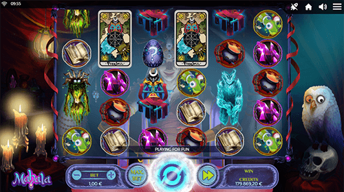 "The slot game ""Mahala"" by Spinmatic has a 5x6 reel layout"