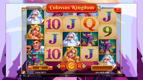 """Colossus Kingdom"" is a ""kingdom-styled"" Spinomenal slot with 20 paylines"