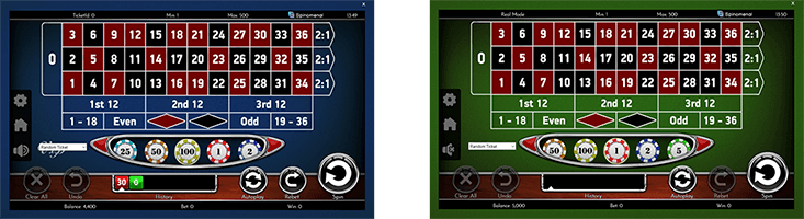"Spinomenal has two table games - ""European Roulette"" and ""European Roulette VIP"""