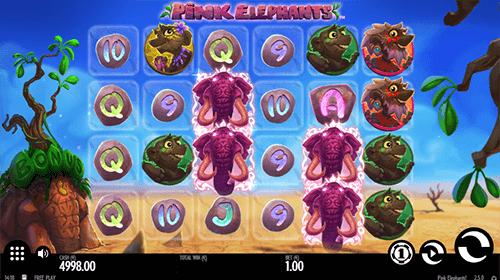 "The ""Pink Elephants"" is one of the most popular slots of Thunderkick with 4x6 layout"