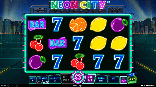 "The ""Neon City"" slot from Wazdan has a 3x5 reel layout and many bonus features"