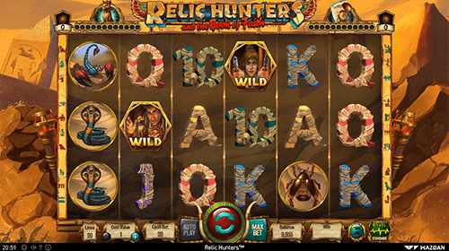 "The Wazdan slot ""Relic Hunters"" features a 3x6 reel layout and 20 paylines"