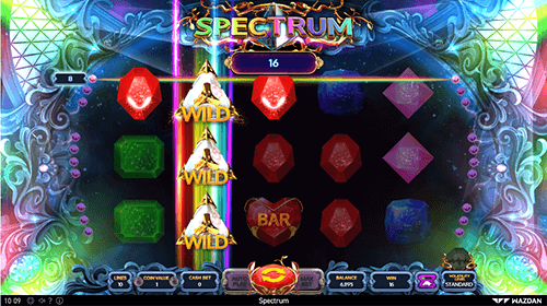 """Spectrum"" slot from Wazdan has a 3x5 layout and 10 pay lines"