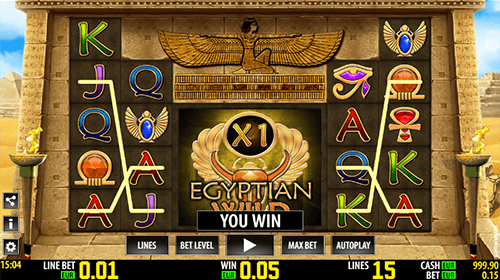 "Worldmatch 5x3 slot ""Egyptian Wild HD"" has two jackpots and many features"