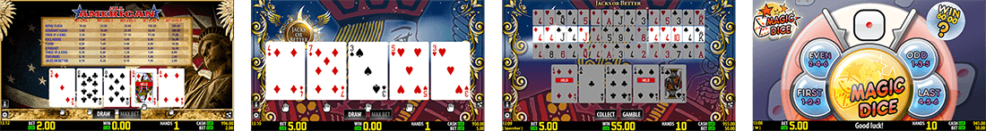 Worldmatch has a few video poker titles with its own rules