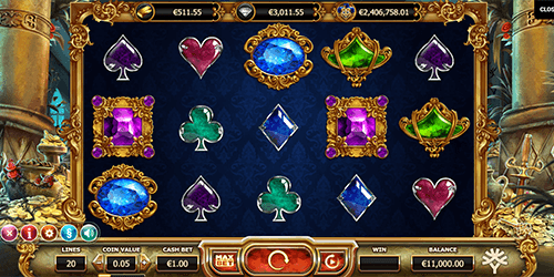 """Empire Fortune"" Yggdrasil slot game provides 20 paylines and three jackpots"
