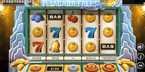"The Yggdrasil slot ""Niagara Falls"" has 20 pay lines and many bonus features"