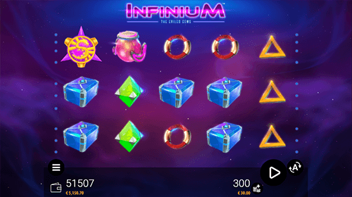 """Infinium"" slot by Zeusplay gives the opportunity to win up to 15 free spins"