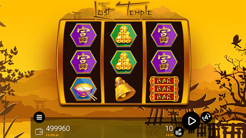 """The Lost Temple"" is a 3x3 Zeusplay slot with 27 fixed paylines"